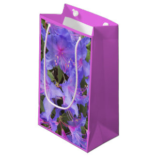 Purple Rhododendron Blooms Floral Small Gift Bag