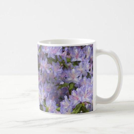 Purple Rhododendron Blossoms Floral Coffee Mug