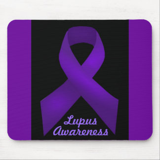 Purple Ribbon Awareness Lupus Mouse Pad
