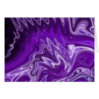 Purple Ribbon Candy Abstract Neon Swirl Background Card