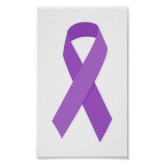 PURPLE RIBBON CAUSES support for Alzheimer's disea Poster