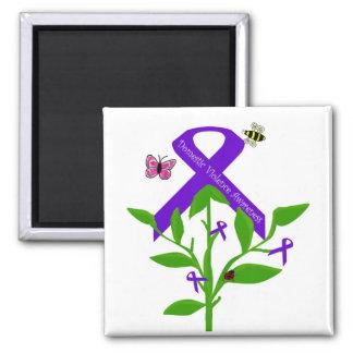 Purple ribbon  Domestic Violence Awareness magnet