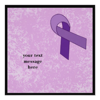 purple ribbon event card