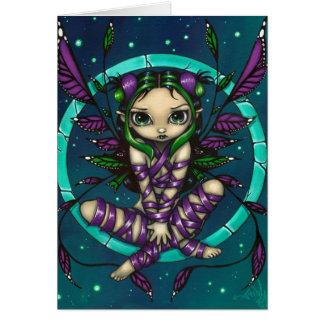 """Purple Ribbon Fairy"" Greeting Card"