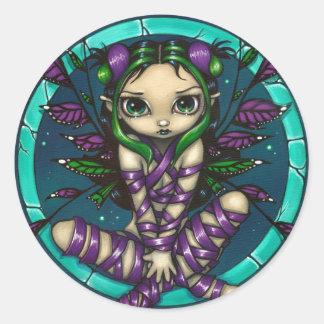 """Purple Ribbon Fairy"" Sticker"
