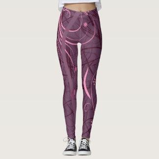 Purple Ribbon Leggings