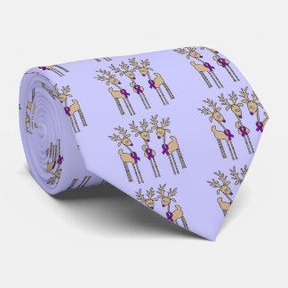 Purple Ribbon Reindeer (Crohn's & Colitis) Tie