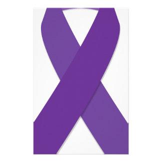 Purple Ribbon Stationery