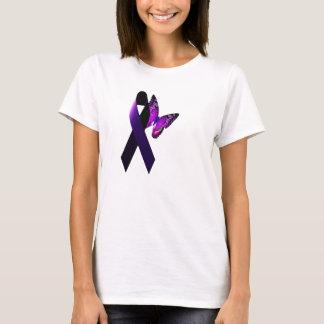 Purple Ribbon Supporting Epilepsy Awareness T-Shirt