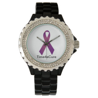 Purple Ribbon watch Cystic Fibrosis Lupus Fibro
