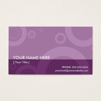 purple rings business card