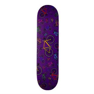 Purple road bikes custom skate board