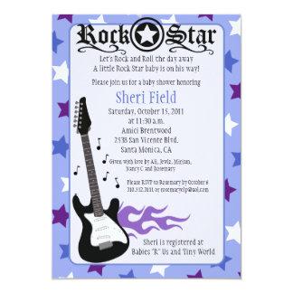PURPLE ROCK STAR 5X7 BABY SHOWER - Rosemary Card