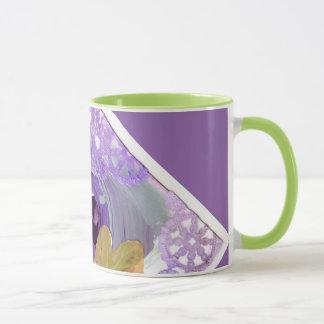 Purple Rose and Butterfly mug