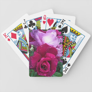 Purple rose bicycle playing cards