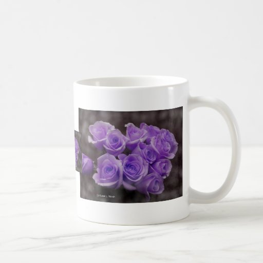 Purple rose bouquet mug