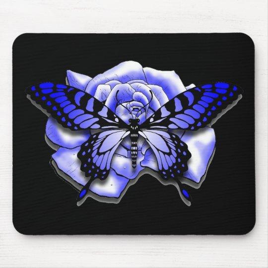 Purple Rose Butterfly Mousepad