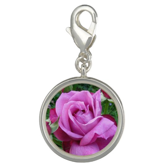 Purple Rose Charm