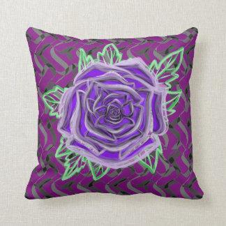 Purple rose checks your color custom throw pillow