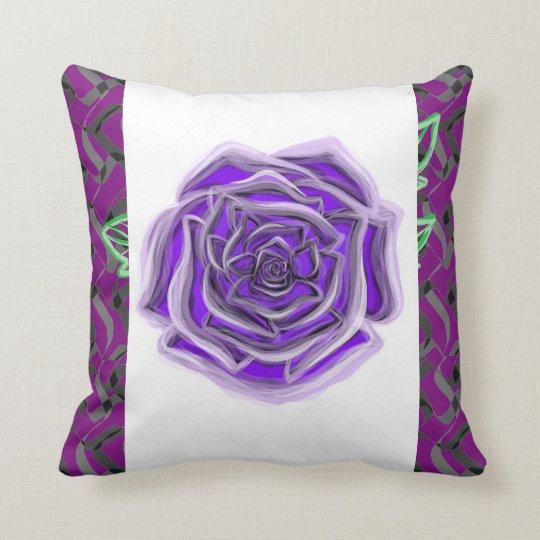 Purple rose checks your colour custom throw pillow