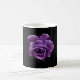 Purple Rose Coffee Tea Cup Mug