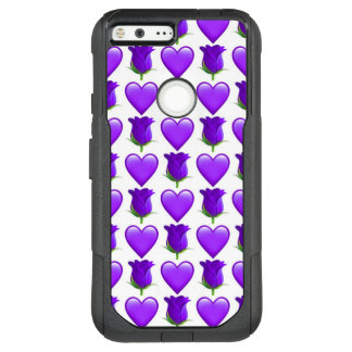 Purple Rose Emoji Google Pixel XL Otterbox Case