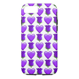 Purple Rose Emoji iPhone 7 Phone Case