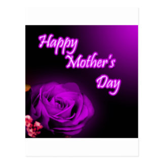 Purple Rose Happy Mother's Day design Postcard
