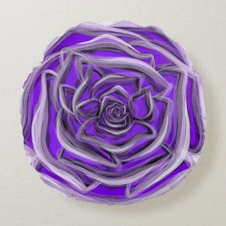 Purple rose monogram frontback custom throw pillow