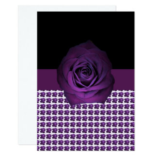 Purple Rose Motif shown on Card