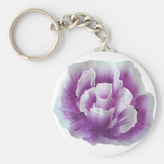 Purple Rose Painting Key Chain