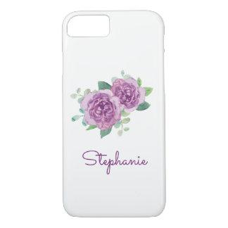 Purple Rose Pretty Watercolor iPhone 8/7 Case