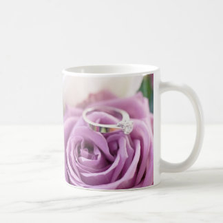 Purple Rose Summer Wedding Save The Date Mug