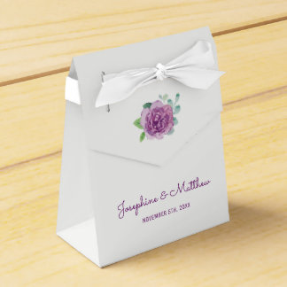 Purple Rose Wedding Favor Box