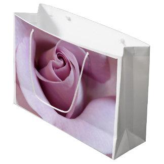 Purple Rose Wedding Photo Large Gift Bag