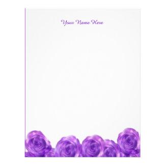 Purple Roses Custom Letterhead