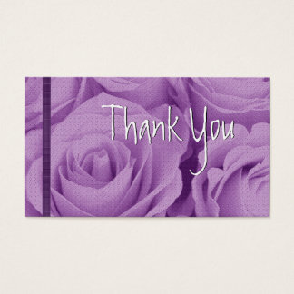 PURPLE Roses Thank You Wedding Card