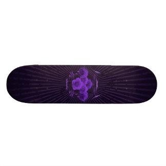 Purple Roses & Tribals: Custom Skateboard