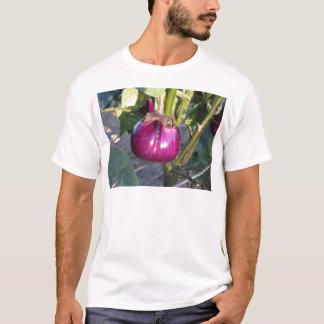 Purple round eggplant hanging on tree T-Shirt