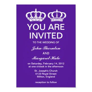 Purple Royal Couple Wedding Card