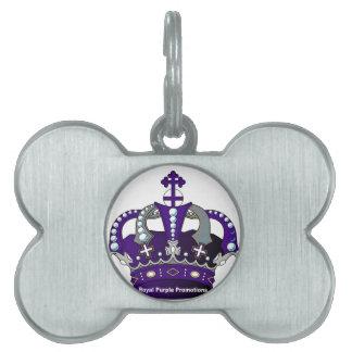 Purple Royal Crown Pet ID Tag