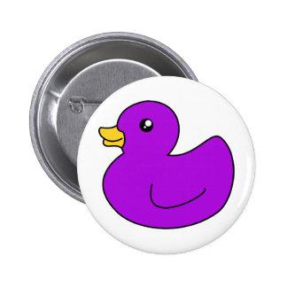 Purple Rubber Ducky 2 Inch Round Button