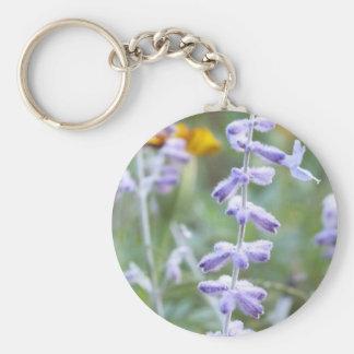 Purple Russian Sage -Pervoskia Basic Round Button Keychain