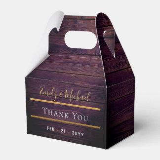 Purple Rustic Gable Box - Thank You Wedding Favors