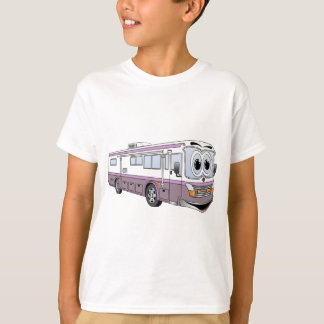 Purple RV Bus Cartoon Camper T-Shirt