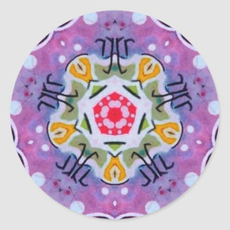 Purple Sacred Geometry Zodiac Fractal Sticker