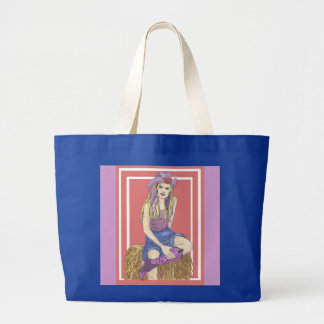 Purple Sage Cowgirl Large Tote Bag