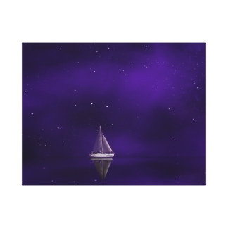 Purple Sailboat Canvas Print