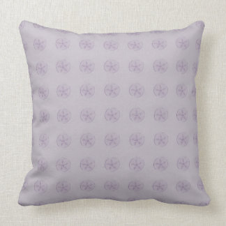 Purple Sand Dollars Throw Pillow