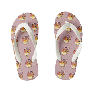 purple sandals with handpainted mouse